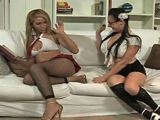 AnySex Video - College Four Eyed Girl Gives Blowjob To Shemale Teacher