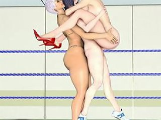 H2porn Video - 3d Hentai Shemale Smackdownn And Threesome Fucked In The Ring