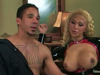 AnyPorn Video - Blonde Tranny Jessica Host Smashes Lobo's  Doggy Style