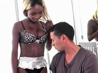 DrTuber Video - Blonde Ebony Shemale Fucks White Cock Drtuber