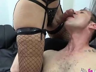 aShemaleTube Video - Shy Couple First Time Shemale Experience 2